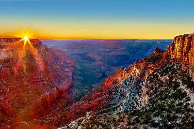 Pics Photograph - Grand Sunset by Az Jackson