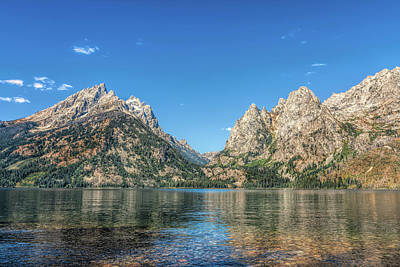 Photograph - Grand Teton And Mt St John In The Summer by John M Bailey