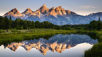 Photograph - Grand Teton Awakening by Dan Mihai