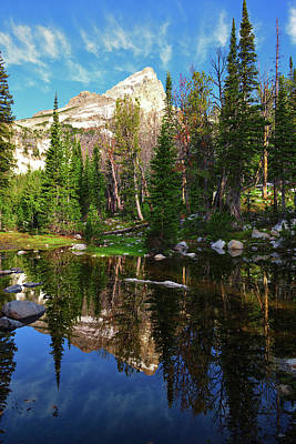 Photograph - Grand Teton High Alpine Reflections by Greg Norrell