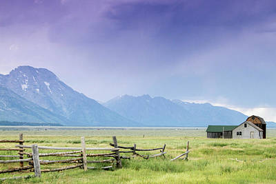 Photograph - Grand Teton Homestead by Dawn Romine