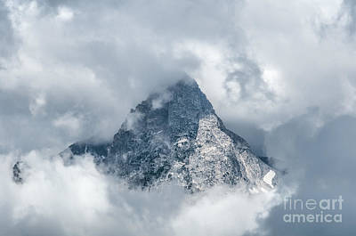 Photograph - Grand Teton In Clouds by Sharon Seaward