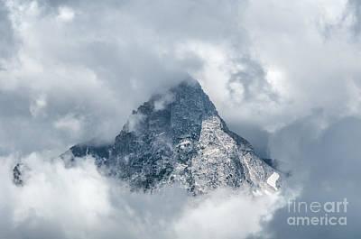 Photograph - Grand Teton In Clouds by Sharon Seaward