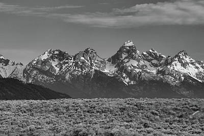 Photograph - Grand Teton Landscape Black And White by Dan Sproul