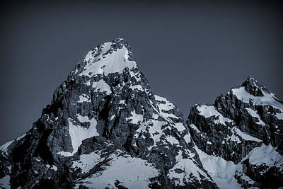 Photograph - Grand Teton Mountain Blue Tone by Dan Sproul