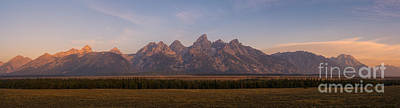 Surrealism Royalty Free Images - Grand Teton Mountain Range At Sunrise Panorama Royalty-Free Image by Michael Ver Sprill