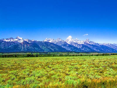 Photograph - Grand Teton Mountain Range by Ginger Wakem