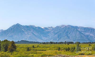 Mountain Range With Evergreens Photograph - Grand Teton Mountain Range by Kathleen Garman