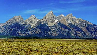 Photograph - Grand Teton Mountain Range by Marilyn Burton