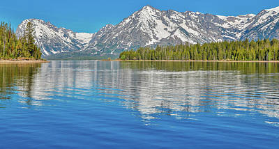 Photograph - Grand Teton Mountain Reflection On Jackson Lake by Dan Sproul
