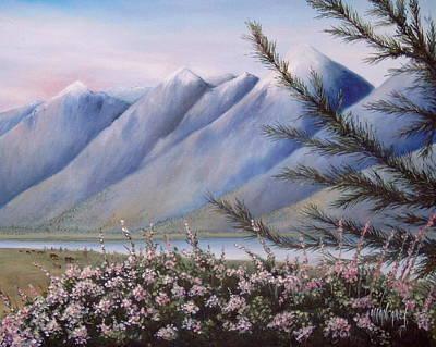 Grand Teton Mountains Art Print by Allan Carey