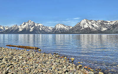 Photograph - Grand Teton Mountains At Colter Bay Beach by Dan Sproul
