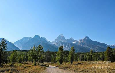 Mountain Range With Evergreens Photograph - Grand Teton Mountains I by Kathleen Garman