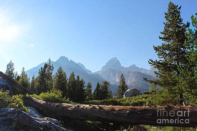Mountain Range With Evergreens Photograph - Grand Teton Mountains II by Kathleen Garman
