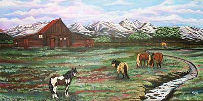 Painting - Grand Teton Mountains by Michelle Joseph-Long