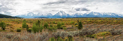 Photograph - Grand Teton Mountains Panorama by Gej Jones