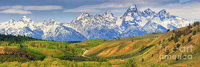 Natures Impressive Mountains Photograph - Grand Teton National Park by Henk Meijer Photography