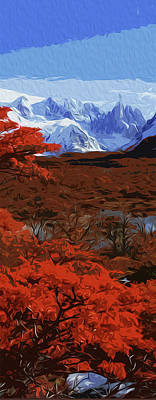 Painting - Grand Teton National Park In Autumn by Andrea Mazzocchetti
