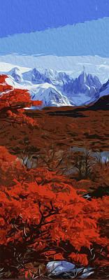 Painting - Grand Teton National Park In Autumn by Andrea Mazzocchetti
