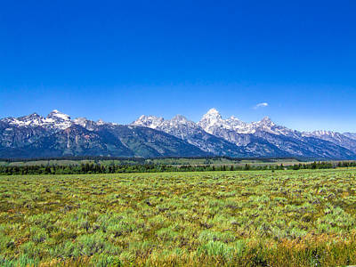 Photograph - Grand Teton National Park Mountain Range by Ginger Wakem