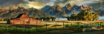 Photograph - Grand Teton National Park Thomas Alma And Lucille Moulton Homestead  by Blake Richards