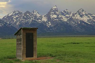 Photograph - Grand Teton Outhouse by Dan Sproul