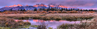 Photograph - Grand Teton Purple And Pink Morning by Adam Jewell