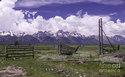 Photograph - Grand Teton Range by Louise Magno