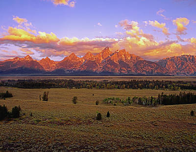 Photograph - Grand Teton Range by Paul Breitkreuz