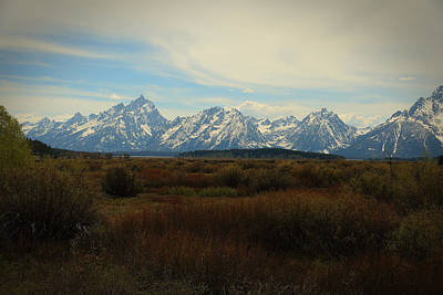 Photograph - Grand Teton Range by Robert Melvin