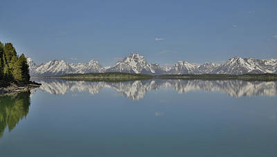Owens River Photograph - Grand Teton Reflection  by Dan Sproul