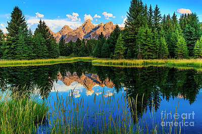Photograph - Grand Teton Reflections In Snake River by Ben Graham
