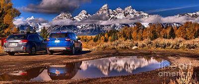 Photograph - Grand Teton Scenic Parking by Adam Jewell