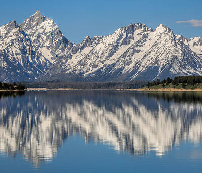Photograph - Grand Teton Spring Reflection by Dan Sproul