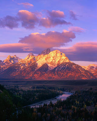 Photograph - Grand Teton Sunrise by Mark Miller