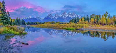 Photograph - Grand Teton Sunrise Panoramic by Scott McGuire