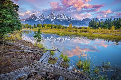 Photograph - Grand Teton Sunrise Reflection by Scott McGuire