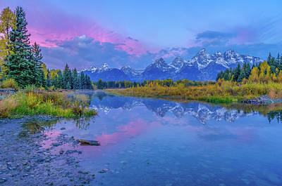 Photograph - Grand Teton Sunrise by Scott McGuire