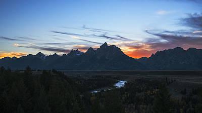 Photograph - Grand Teton Sunset  by Vishwanath Bhat