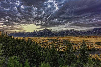Photograph - Grand Tetons And Snake River Sunrise - Wide Angle by Josh Bryant