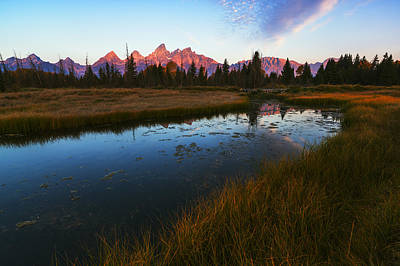 Photograph - Grand Tetons Autumn Sunrise by Vishwanath Bhat