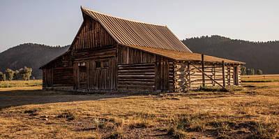 Photograph - Grand Tetons Barn Mormon Row by John McGraw