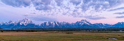 Photograph - Grand Tetons Before Sunrise Panorama - Grand Teton National Park Wyoming by Brian Harig