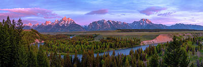 Mountain Valley Photograph - Grand Tetons by Chad Dutson