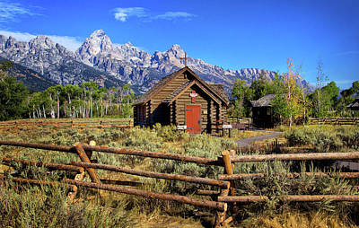 Photograph - Grand Tetons Chapel by Carolyn Derstine