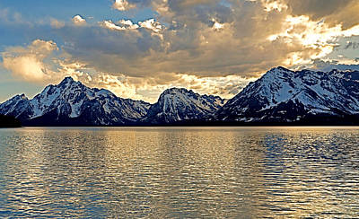 Grand Tetons From Jackson Lake Art Print