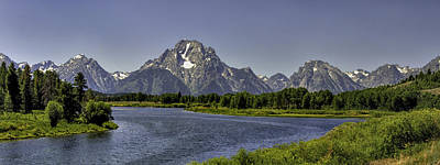 Photograph - Grand Tetons From Oxbow by Alan Toepfer