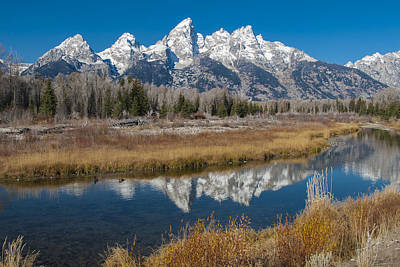 Print featuring the photograph Grand Tetons by Gary Lengyel