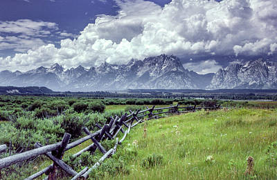 Photograph - Grand Tetons by Gary Shepard