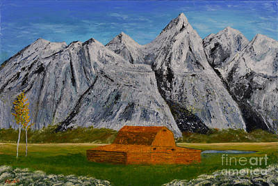 Painting - Grand Tetons by Jack Hedges